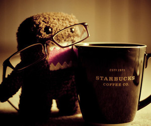 starbucks, domo, and glasses image