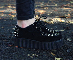 creepers, legs, and shoes image