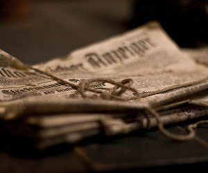 brown, newspaper, and photography image