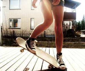 converse, legs, and girl image