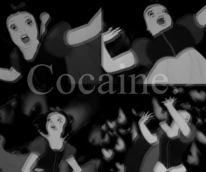 cocaine, black and white, and drugs image