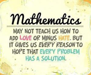 love, quote, and math image