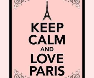 paris, keep calm, and pink image