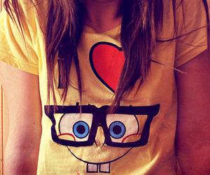 spongebob, sponge bob, and heart image