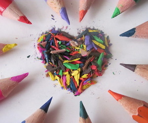 heart and pencils image