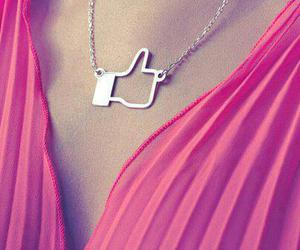 like, facebook, and necklace image