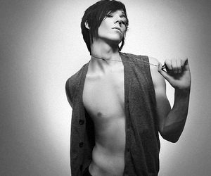Alex McKee, black and white, and chest image