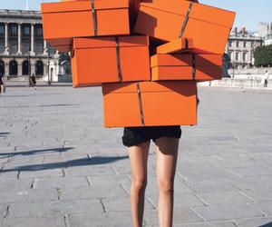 hermes, shopping, and orange image