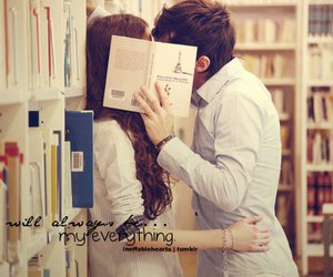 love, book, and kiss image