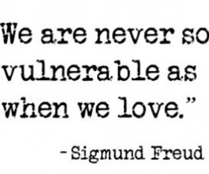 love, quote, and vulnerable image
