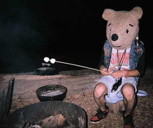 bear, boy, and marshmallow image