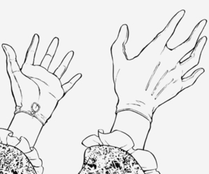black and white and manga image