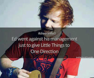one direction, little things, and ed sheeran image