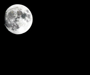 black and white, fullmoon, and sky image