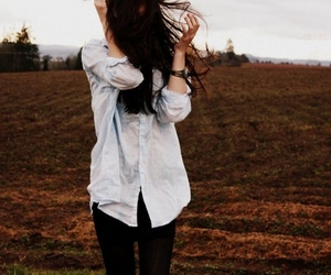 nature, wind, and shirt image