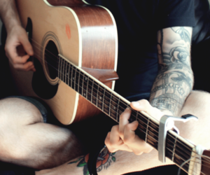 boy, guitar, and hipster image