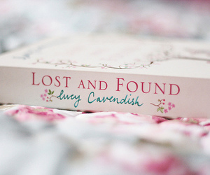 book, lost and found, and pink image