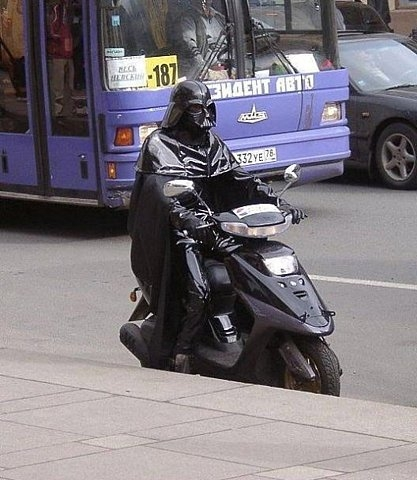 funny, darth vader, and scooter image