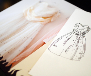 dress, design, and drawing image