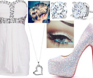 diamonds, dress, and earrings image