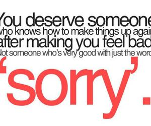 quote and sorry image