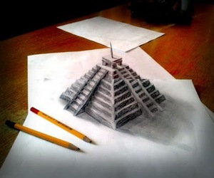 drawing, 3d, and art image