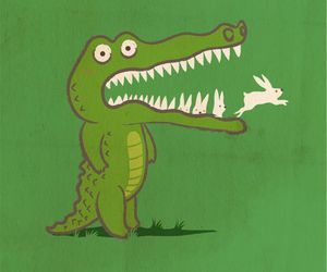 crocodile and green image
