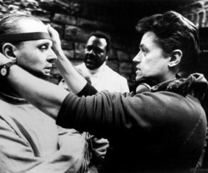 hannibal lecter, black and white, and anthony hopkins image