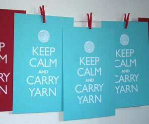 crochet, knit, and keep calm image