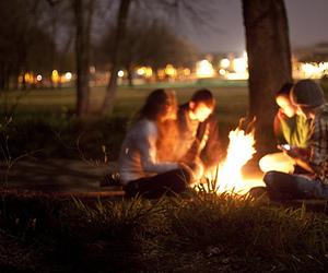 friends, fire, and bonfire image