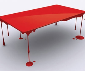 table, red, and design image