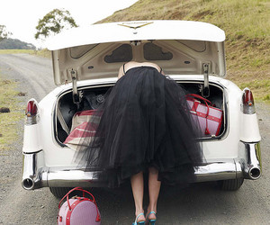 car, vintage, and dress image