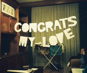 love, congrats, and vintage image