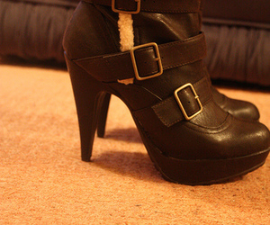 ankle boots, girl, and heels image