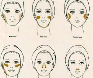 makeup, face, and beauty image