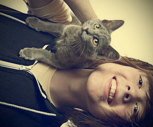 cat, christofer drew, and boy image