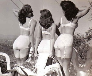 40's, girls, and vintage image