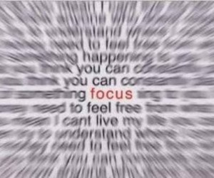 focus and text image