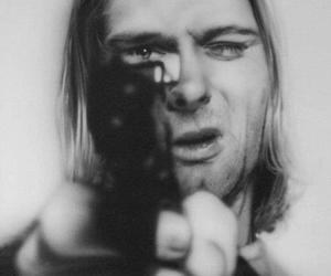 amazing, b&w, and gun image