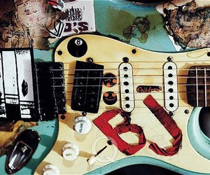 guitar, green day, and blue image