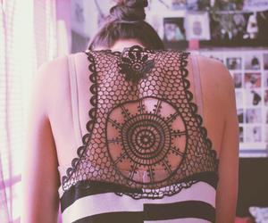 girl, fashion, and back image