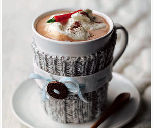 coffee, winter, and hot ​chocolate image