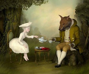 ray caesar, art, and tea image