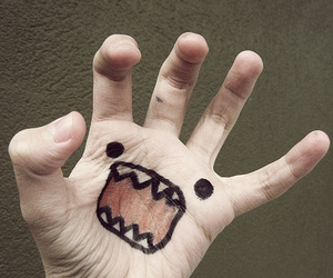 domo, hand, and rawr image