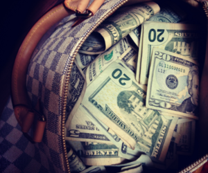 money, bag, and rich image