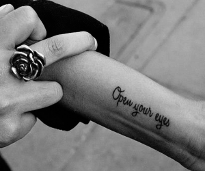 arm, quote tattoo, and quotes image