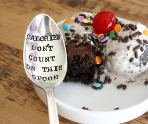 calories, ice cream, and food image