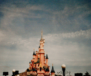 disney, castle, and sky image