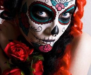 face, girl, and caveira mexicana image