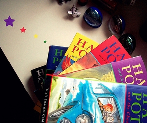 blue, books, and colorful image